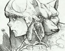 Princess Mononoke by Mshoo
