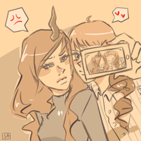 V-chan + Criime by virecca
