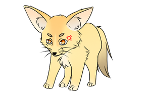 Kasper - Fennec fox form #1 by Nimmiii-tan