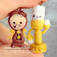 Cogsworth and Lumiere from Beauty and the Beast! by mondoinundito