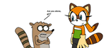 Rigby meets Marine by MarcosLucky96