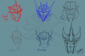 TFP Head Sketches by AsexualAlien