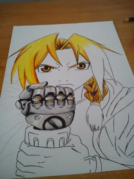 Edward Elric WIP by Blaz1ng-Note