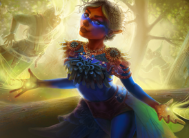 Magic: the Gathering Inspired Fairy by karipaints