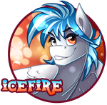 [QnB] Patreon Badge #6 - Icefire by PaintedWave