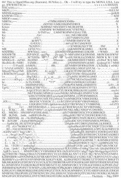 Word Art- Mona Lisa by TheMole135
