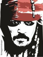 Low Res Vector Art  ~Johnny Depp~ by megamindmaan