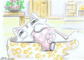 Funny cat what time is it ACEO by KingZoidLord
