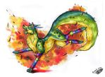 Parrot Dog and the Leaves by Natoli