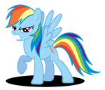 Rainbow Dash 'Grrr' Face by Rayne-Feather