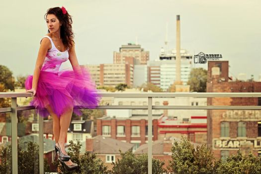 Fairy in the City by RebekaPhotography