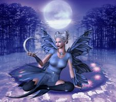 Blue Moon Goddess by VisualPoetress