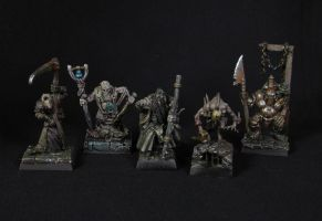 Nurgle Mordheim gang group shot #1 by SirJarva