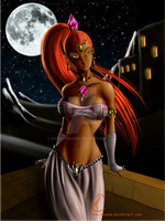 a hot gerudo night- Nabooru by Know-Kname