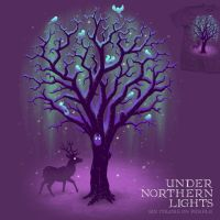 Under Northern Lights - tee by InfinityWave