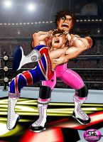 The Hitman v Dynamite Kid V1 by TonyForever