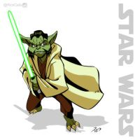 SW 03 - Young Yoda by RickCelis