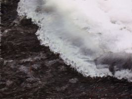 Ice Rapids In Chalk by Rose--Wolf