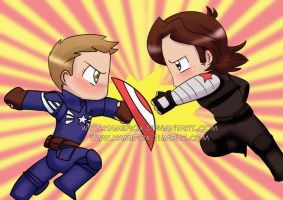 J2 AU Captain America and the Winter Soldier by KamiDiox