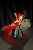 Little red ridding Hood color by AmeliaVidal