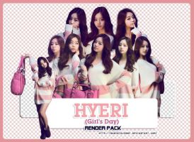 [RENDER-PACK#018] Hyeri (Girl's Day) by babykidjenny