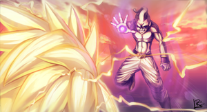 DBZ - Buu vs by Lilak-rain