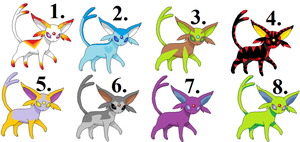 Espeon adoptables by Amber11eevee