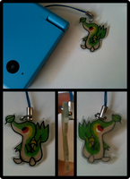 Snivy Phone Charm by Blubble-The-Blubs