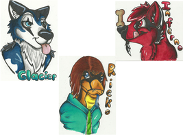 Badges For Glacier by Dresden-Complex