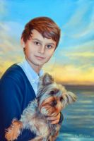 Boy and dog by kirina66