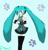 Miku is love : Colored by Yami7