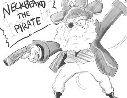 Neckbeard the Pirate by ThisIsArtMaybe