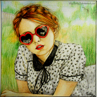Girl in red sunglasses by Trilly21