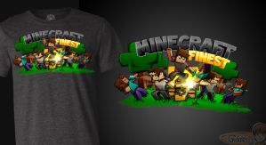 Survival Games T-Shirt - Minecraft Finest by FinsGraphics