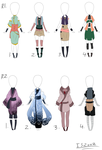 Female outfit Adopts Set 2: OPEN by itasasu2002
