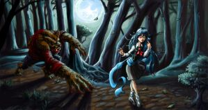 08-15 Meets the Wolfman by BaneNascent