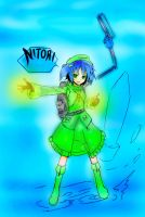 Touhou : Nitori Kawashiro-Coloured by heliosroxas