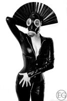 leather catsuit queen 1 by lycanthropicreation