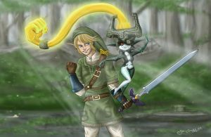Link and Midna: Armed and Dangerous by ArtBySabinaE