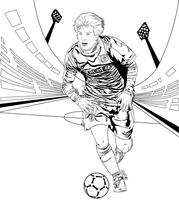 Messi FC Barcelona - LineArt by afrodytta