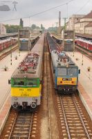 V43 325 and V63 018 in Gyor by morpheus880223