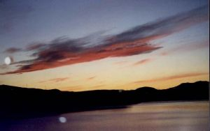 Sunset over Lake Ulfljotsvatn by NikkiLaLa