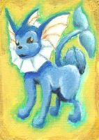 Vaporeon Sketch Card by ibroussardart