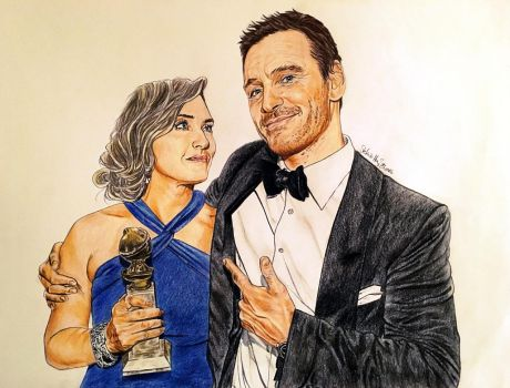 Michael Fassbender and Kate Winslet by Larkistin89