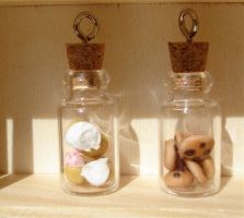 jars of goodies by MotherMayIjewelry