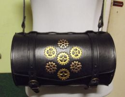 Barrel handbag with Gear motif by rwolf1970