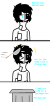 Triangle Man always wins by Ask-Cat-and-OCs