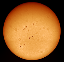 The sun as seen on April 16th 2014 (full disk) by TimeLordOmega