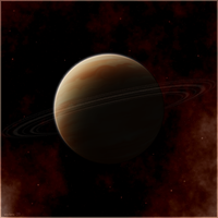 ringed gas giant by istarlome