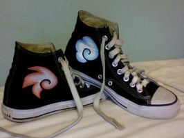 Fire And Ice Shoes by Aeolian-Wisp